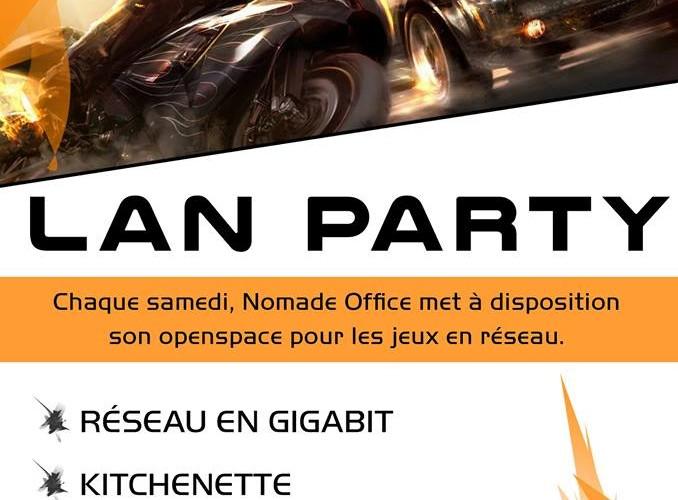 Nomade Office lance Lan Party dans l'espace de coworking